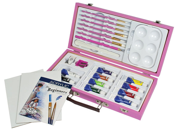Royal & Langnickel® Pink Art Beginner Acrylic Painting Set