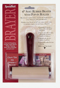 "SPEEDBALL® 4"" Soft Rubber Pop-In Brayer - Modern School Supplies, Inc."