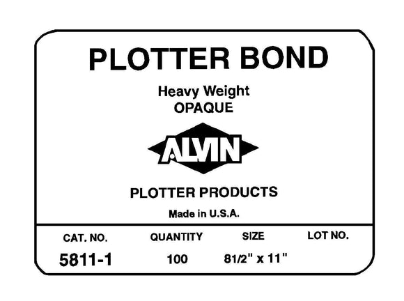 ALVIN® Heavyweight Opaque Plotter Bond Sheets - Modern School Supplies, Inc.