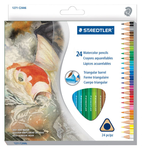 Staedtler® Triangular Watercolor Pencil Sets