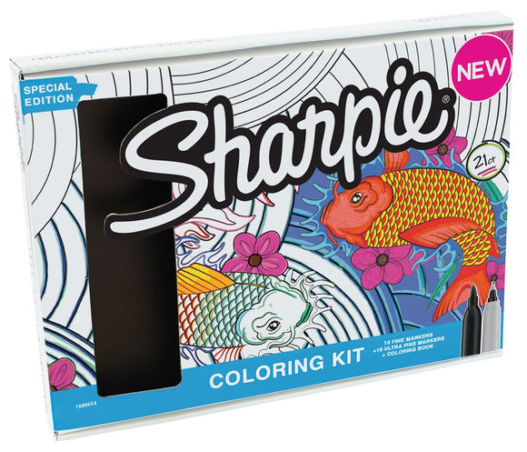 Sharpie® Aquatic-Themed Adult Coloring Kit