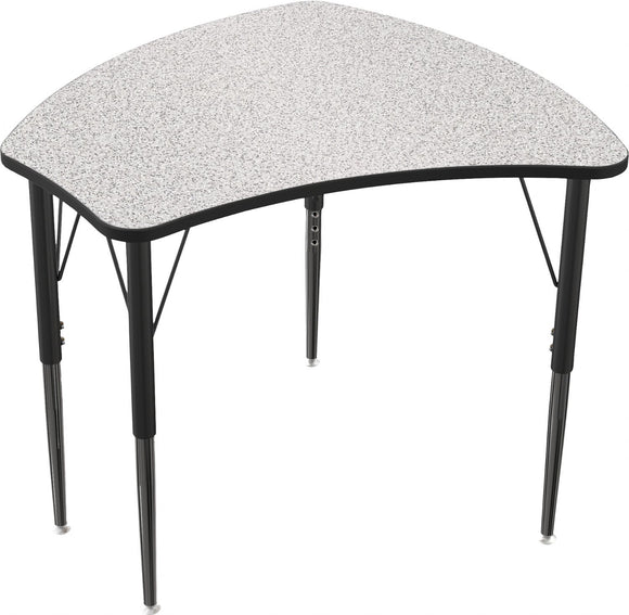 MOORECO® Essentials™ Economy Shapes Student Desk – Gray Nebula