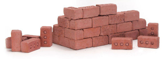 Mini Materials Red Bricks, 20 Pack