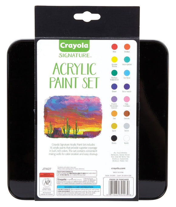 CRAYOLA® Signature™ Acrylic Paint Set (16 ct.) - Modern School Supplies, Inc.