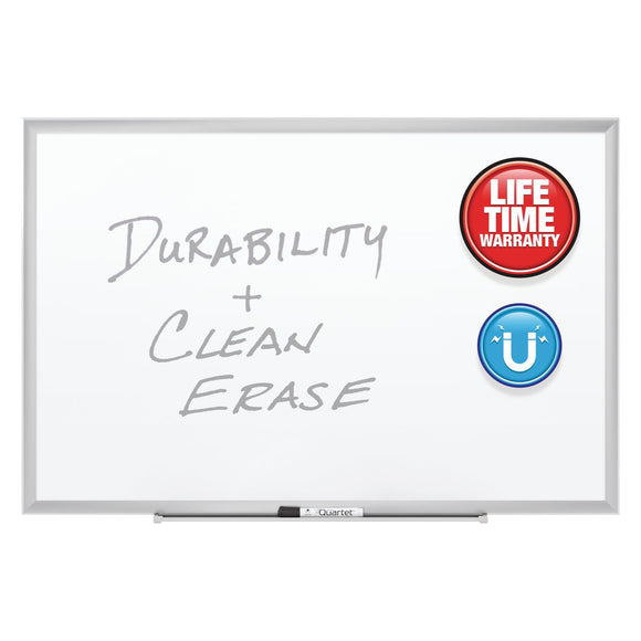 Quartet Duramax Porcelain Magnetic Whiteboards, Silver Aluminum