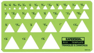 Rapidesign® Triangle & Diamonds Template - Modern School Supplies, Inc.
