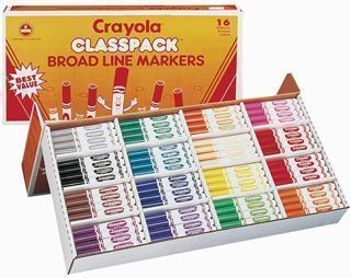 CRAYOLA® Classic Marker Set BROAD LINE Class Pack – CLEARANCE