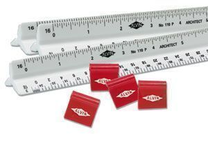 "ALVIN® Set of 24 Architecture Scales w/ Clips, 12"" - Modern School Supplies, Inc."