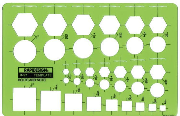 Rapidesign® Bolts & Nuts Template