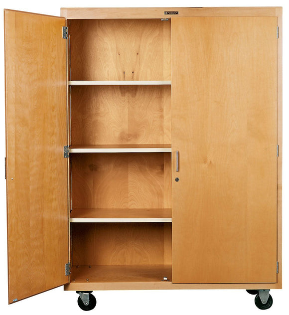 DIVERSIFIED® Tall Maple Storage Cabinet - Modern School Supplies, Inc.