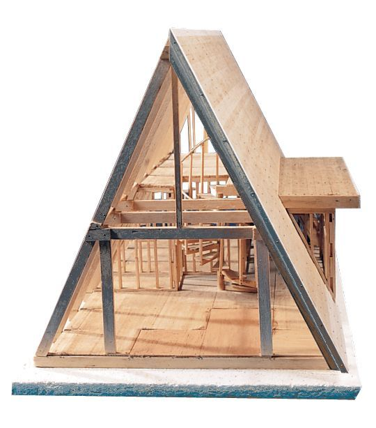MIDWEST® A-Frame Cabin Balsa Kit - Modern School Supplies, Inc.