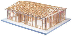 MODERN™ Truss Roof Two Bedroom House Framing Kit - Modern School Supplies, Inc.