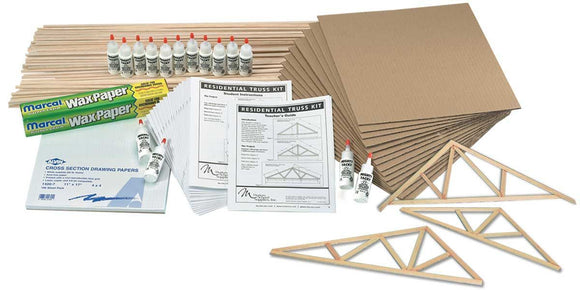 MODERN™ Residential Roof Truss Classroom Balsa Kit - Modern School Supplies, Inc.