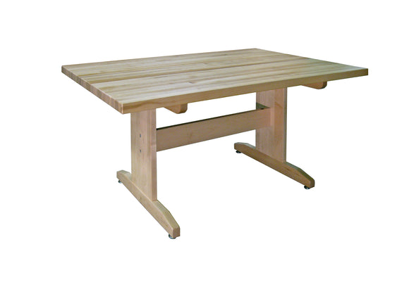 HANN™ Art Table w/ Maple Butcher Block Top, Solid Wood