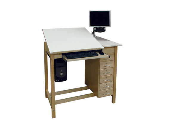 HANN™ CDWD  CAD Drafting Table w/6 Drawers
