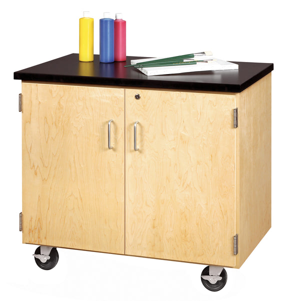 DIVERSIFIED® Enclosed Mobile Demo Cabinet - Modern School Supplies, Inc.