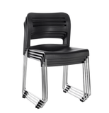 EUROTECH™ Flamingo Stack Chairs – Black (4/pk)