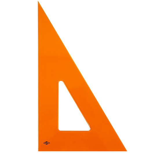 ALVIN® Fluorescent Orange Tint Triangles, 30°/60° or 45°/90° - Modern School Supplies, Inc.
