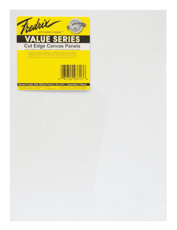 FREDRIX® Value Series Cut Edge Canvas Panels, 25-Packs - Modern School Supplies, Inc.