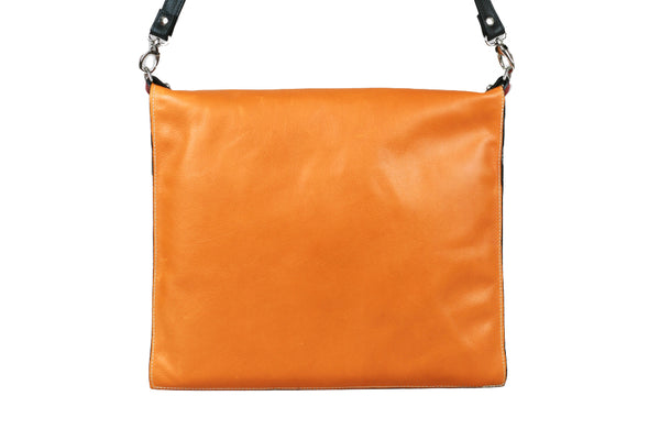 Simple Satchel - Marigold/Red Center - Turtle Ridge Gallery