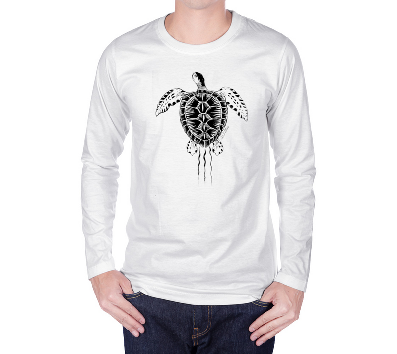 Green Turtle Long Sleeves Uni-shirt