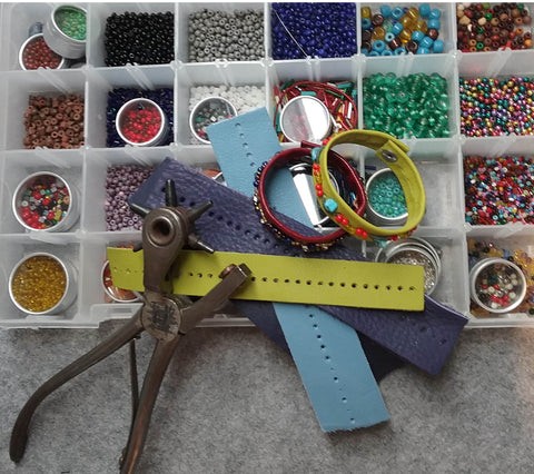 Art Camp February 24 or 25 - Leather/Bead Bracelet