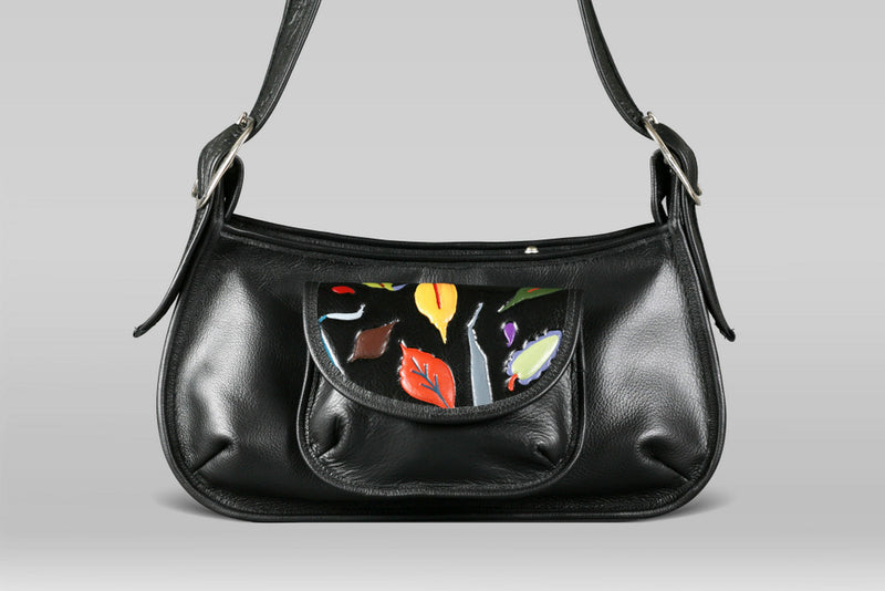 Pioneer Bag - Black/Leaves - Turtle Ridge Gallery