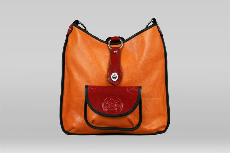Madrid Bag - Marigold/Red Mandala - Turtle Ridge Gallery