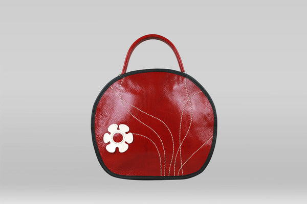 Fille Arch Purse - Red/White Flower