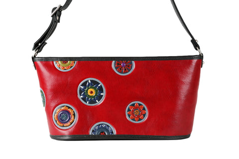 Boat Bag  -  Red or Black/Mandala