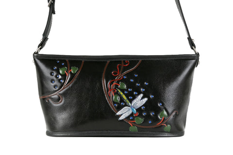 Boat Bag - Black/Dragonfly - Turtle Ridge Gallery