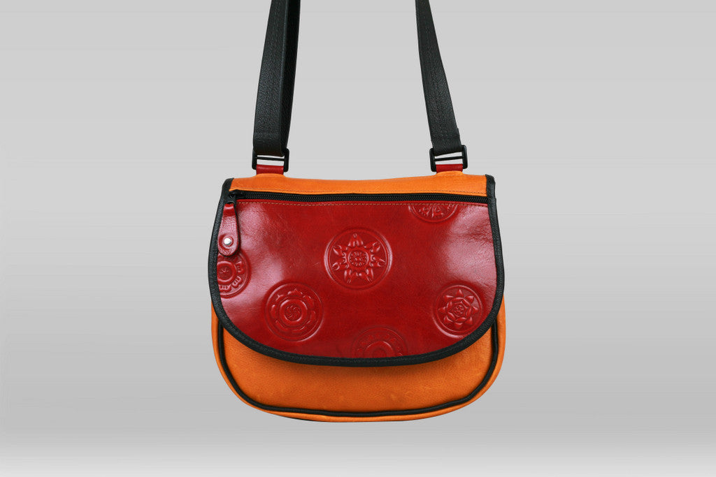 Saddle Bag - Marigold/Red Mandala - Turtle Ridge Gallery