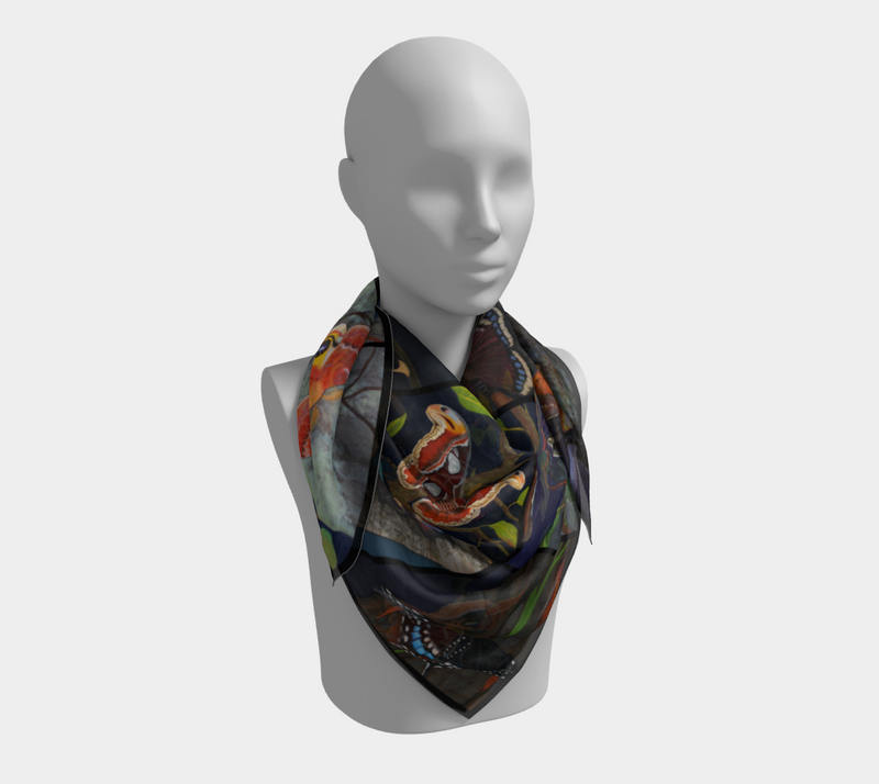 Silk Scarf - Spread Your Wings