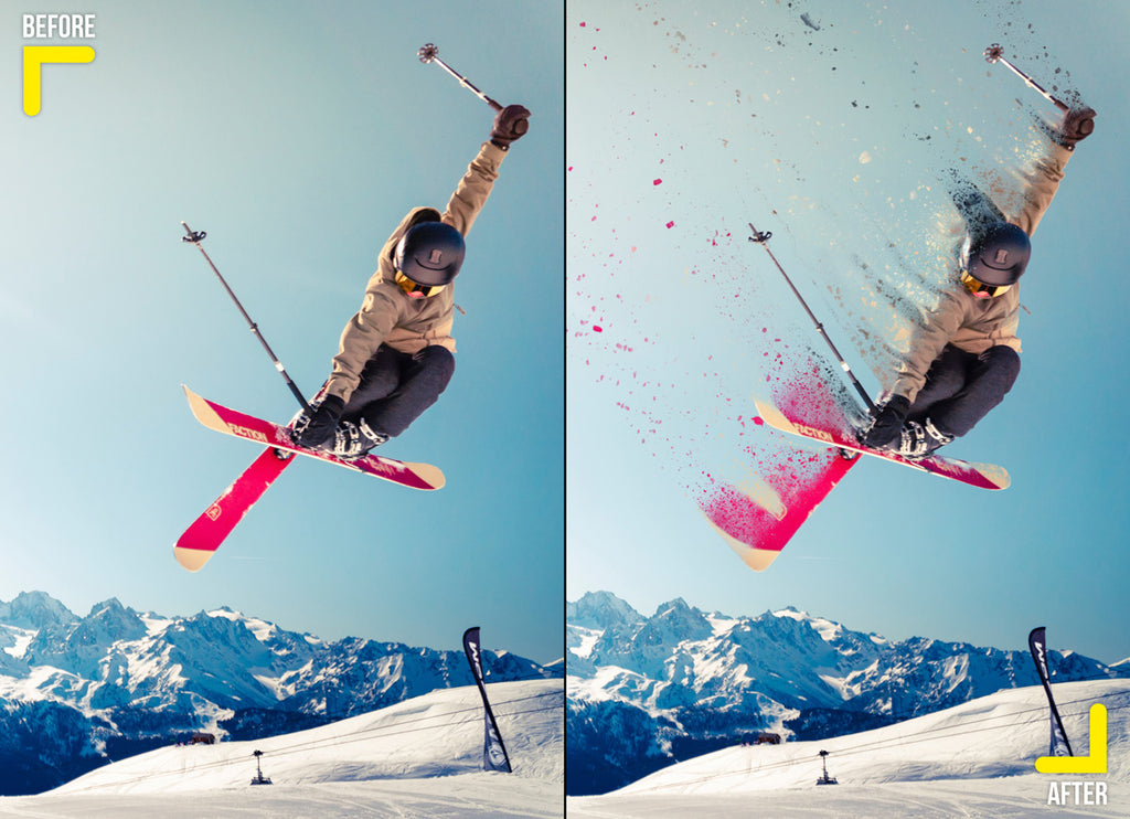 Dispersion effect of a skier