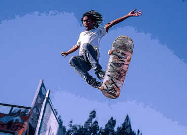 Digital painting effect of skater