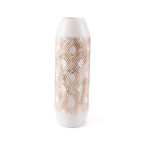 Zuo Toba Bottle Sm White & Brown