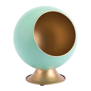 Zuo Round Small Metal Planter Green