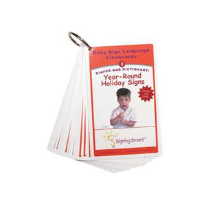 Signing Smart Diaper Bag Flashcards: Year Round Holiday Signs