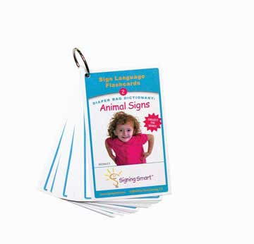 Signing Smart Diaper Bag Flashcards: Animal Signs