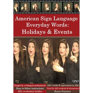 American Sign Language Everyday Words: Activities & Events DVD