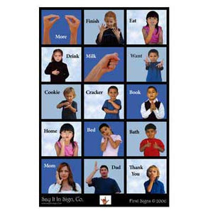 """First Signs"" ASL Lenticular Poster"