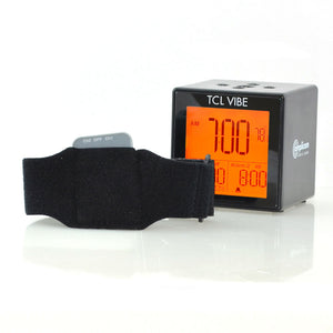 Amplicom TCL Vibe Digital Dual Alarm Clock with Vibrating Wristband