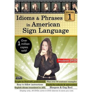 Idioms & Phrases in American Sign Language Volume 1