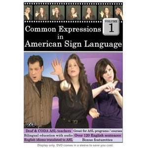 Common Expressions in American Sign Language  Vol. 1