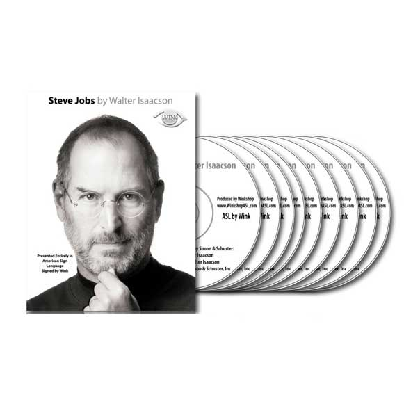 Steve Jobs by Walter Isaacson Book to ASL 9-DVD Set