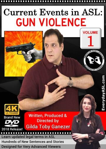 Current Events in ASL: Gun Violence  Vol. 1