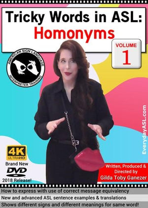 Tricky Words in ASL: Homonyms  Vol. 1