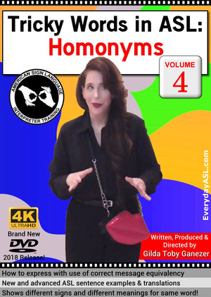Tricky Words in ASL: Homonyms  Vol. 4