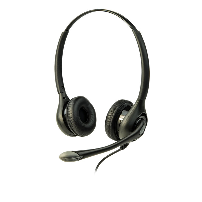 ListenTALK LT-LA-453 Over-the-Head Dual Headset 3 with Boom Microphone