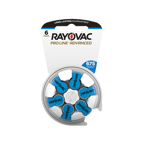 Rayovac ProLine Advanced Mercury-Free Hearing Aid Batteries  60 per box Size 675